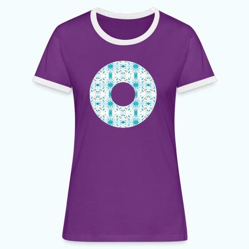 Hippie flowers donut - Women's Ringer T-Shirt