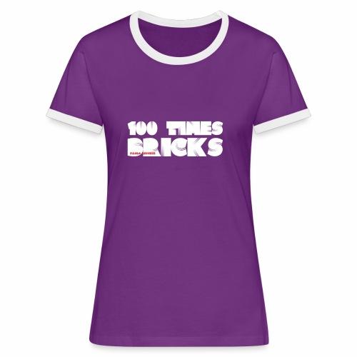 100 TIMES BRICKS retrò - Maglietta Contrast da donna