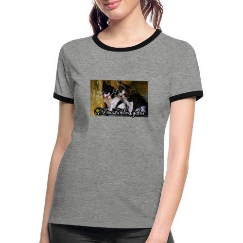 Amor por los gatos - Camiseta contraste mujer