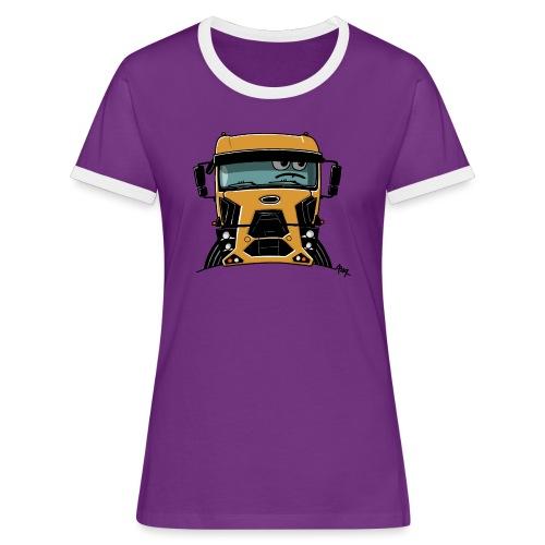 0812 F truck geel - Vrouwen contrastshirt