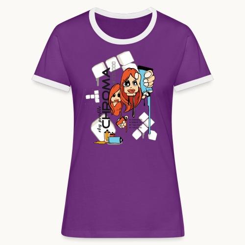 Chroma - T-shirt contrasté Femme