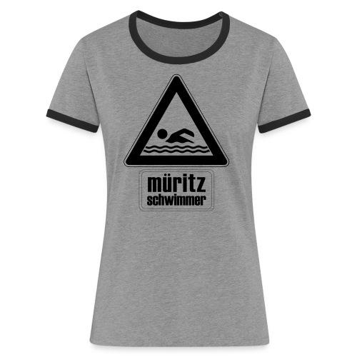 Mueritzswim13 - Frauen Kontrast-T-Shirt