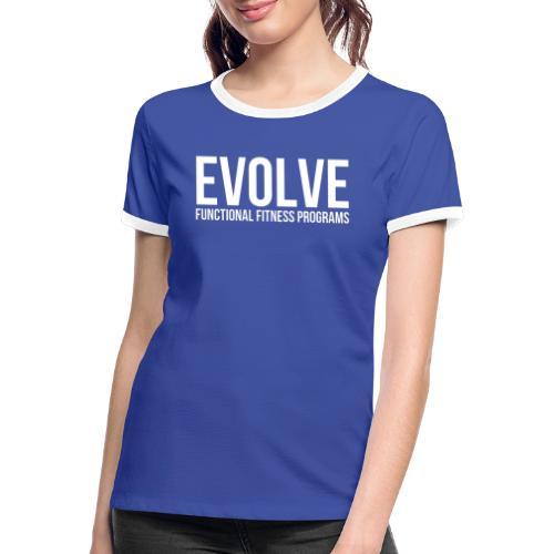 evolve white - Kontrast-T-shirt dam