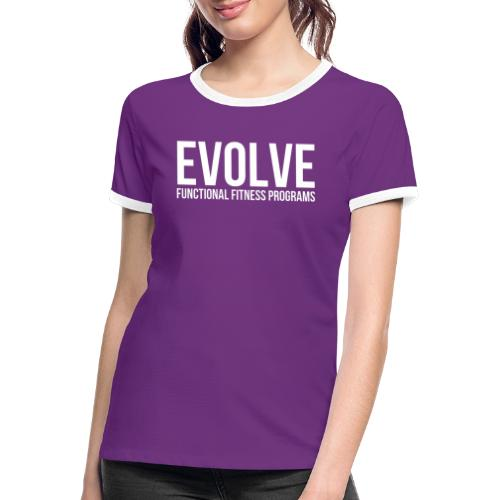evolve white - Kontrast-T-shirt dam