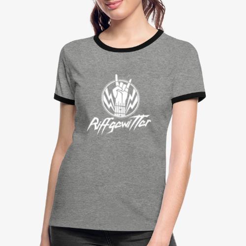 Riffgewitter - Hard Rock und Heavy Metal - Frauen Kontrast-T-Shirt