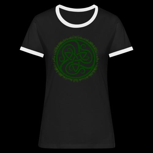 Green Celtic Triknot - Women's Ringer T-Shirt