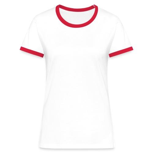 atma wares logo white - Vrouwen contrastshirt