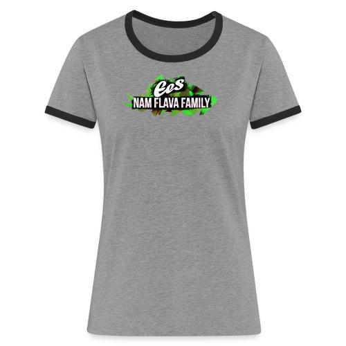 NAM FLAVA Logo green - Frauen Kontrast-T-Shirt