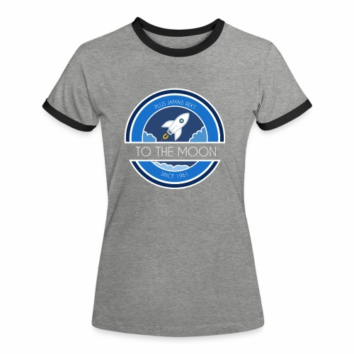 CryptoLoco - To the MOON ! - T-shirt contrasté Femme