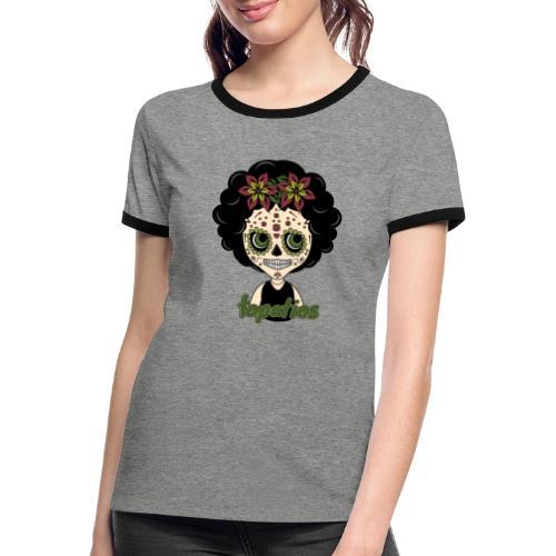 Ojos Tapatios - Camiseta contraste mujer