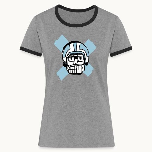 Motard Junior - Blue - T-shirt contrasté Femme