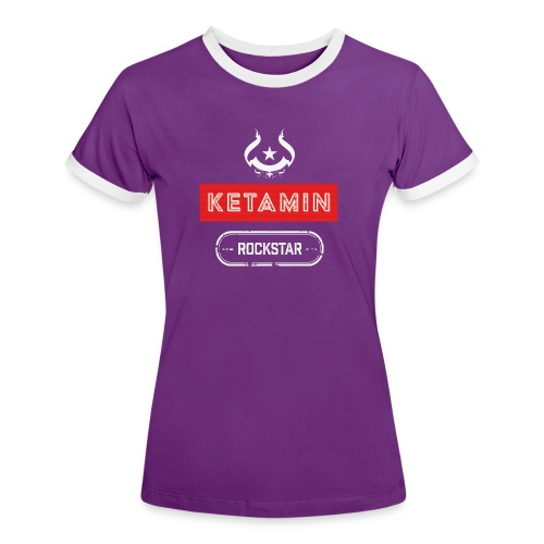 KETAMIN Rock Star - Weiß/Rot - Modern - Women's Ringer T-Shirt