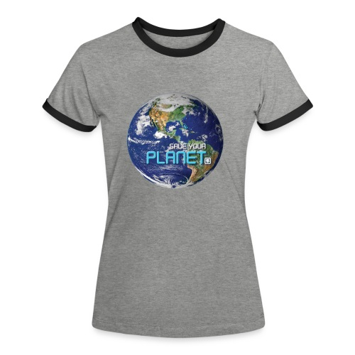 SAVE YOUR PLANET - Dame kontrast-T-shirt