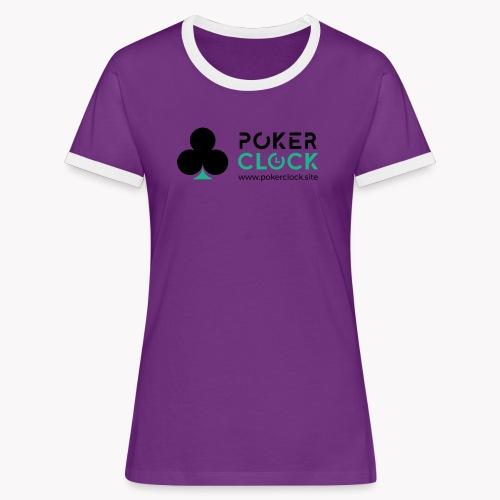 Poker Clock Logo - Frauen Kontrast-T-Shirt