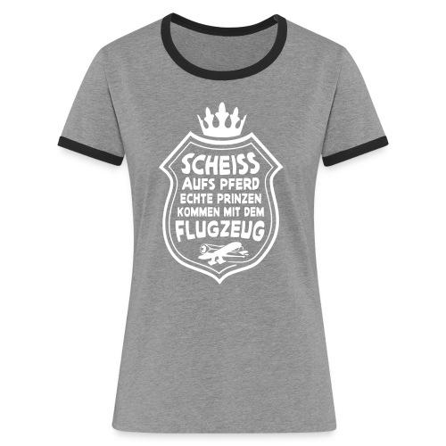 Scheiss aufs Pferd - Frauen Kontrast-T-Shirt
