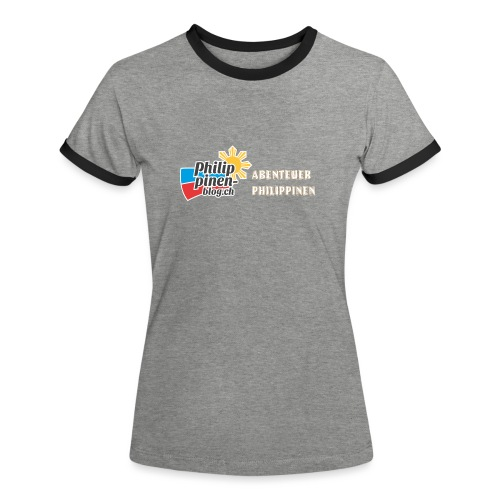 Philippinen-Blog Logo deutsch orange/weiss - Frauen Kontrast-T-Shirt