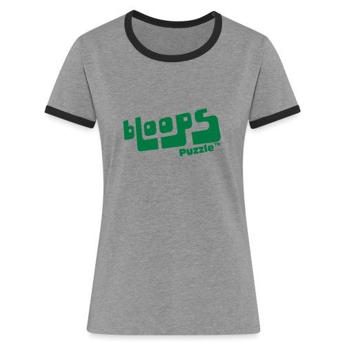 Women's Organic Tank Top bLoops Puzzle™ - Kontrast-T-skjorte for kvinner