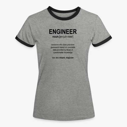 Engineer Def. 1 (Black) - T-shirt contrasté Femme
