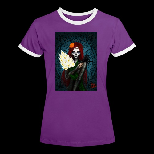 Death and lillies - Women's Ringer T-Shirt
