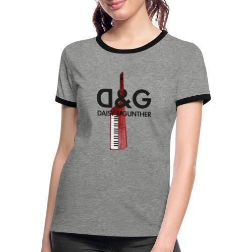Met keytar-logo - Vrouwen contrastshirt