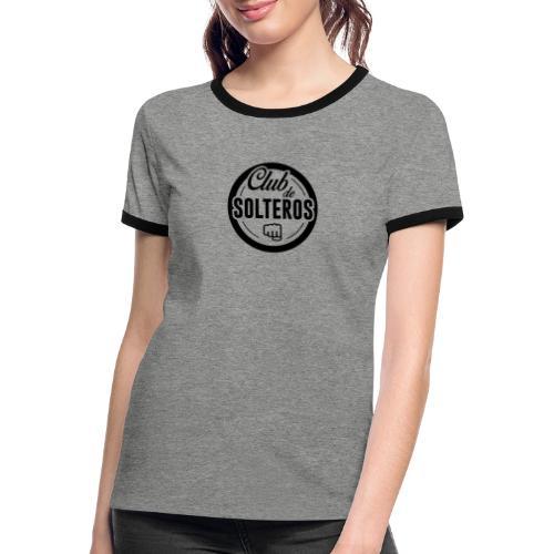 Club de Solteros (logo negro) - Camiseta contraste mujer