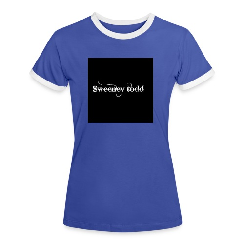 Sweney todd - Dame kontrast-T-shirt