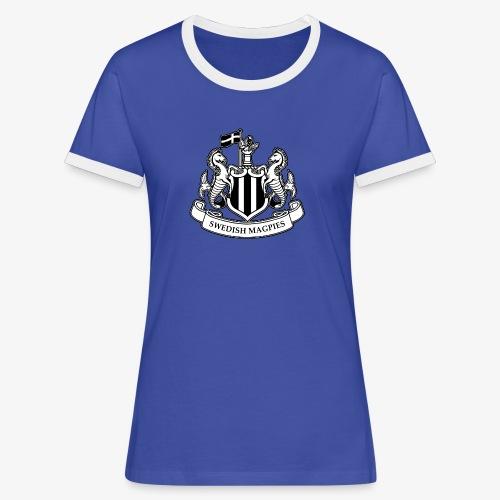 Swedish Magpies - Kontrast-T-shirt dam