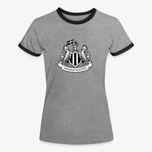 Swedish Magpies - Kontrast-T-shirt dam