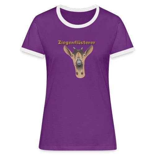 Ziegenflüsterer - Frauen Kontrast-T-Shirt