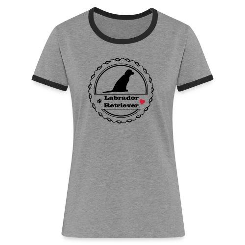 labi love new - Frauen Kontrast-T-Shirt