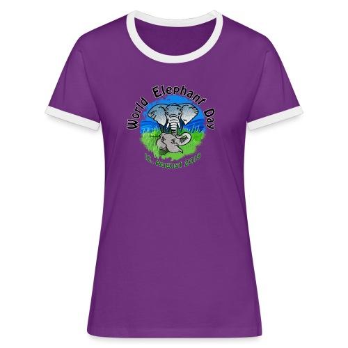World Elephant Day 2018 - Frauen Kontrast-T-Shirt