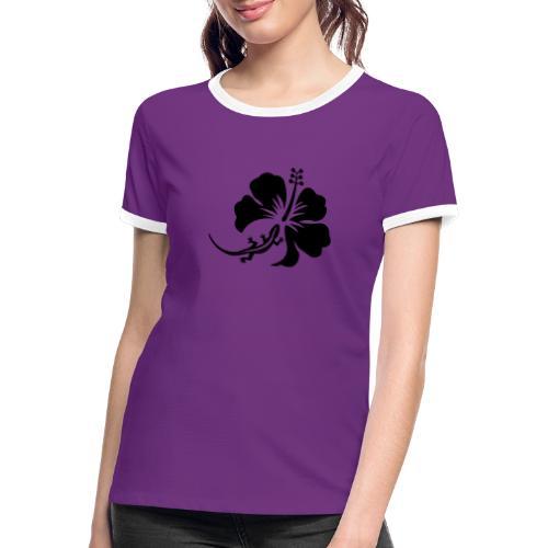 Margouillat hibiscus - T-shirt contrasté Femme