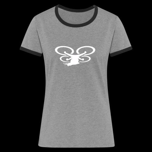 Einseitig bedruckt - Frauen Kontrast-T-Shirt