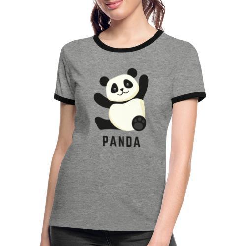 Schattige Panda - Vrouwen contrastshirt