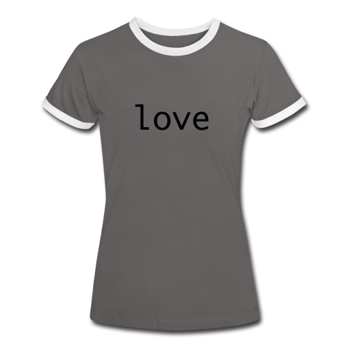 love - Kontrast-T-shirt dam