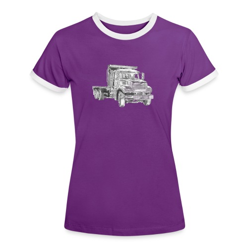 Flatbed Truck 3-axle - Women's Ringer T-Shirt
