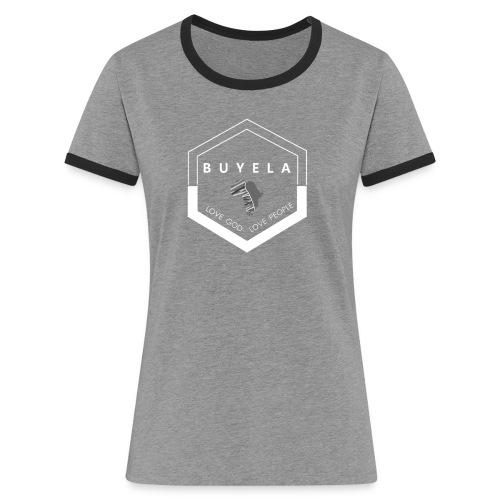 Buyela hexagon - Frauen Kontrast-T-Shirt