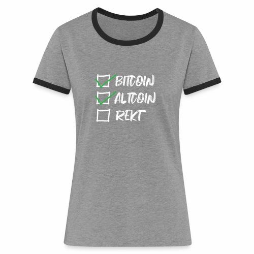 CryptoLoco - CheckList White - T-shirt contrasté Femme