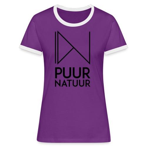 PUUR NATUUR FASHION BRAND - Vrouwen contrastshirt