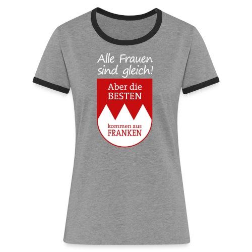 6_spruch_frauen_schwarz - Frauen Kontrast-T-Shirt