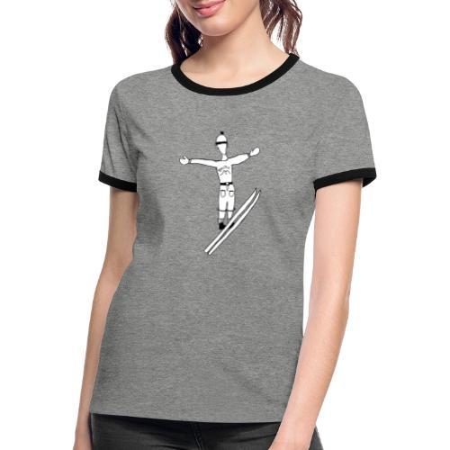 FjellTid Skihopp - Kontrast-T-skjorte for kvinner