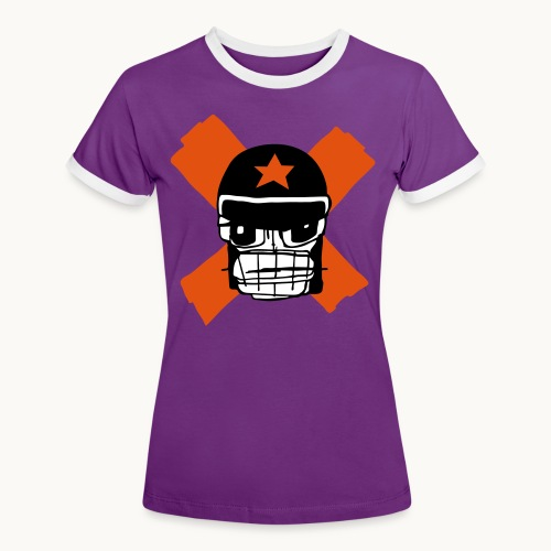 Motard Micky Biker - T-shirt contrasté Femme