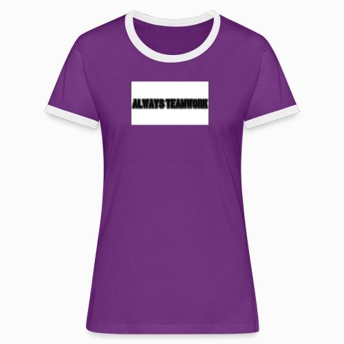 at team - Vrouwen contrastshirt