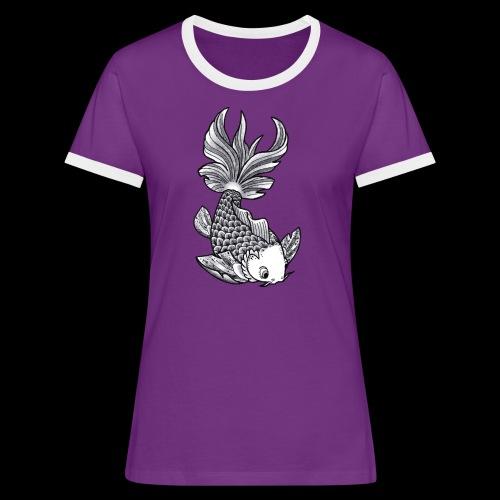 Pesce Tattoo Flash - Maglietta Contrast da donna