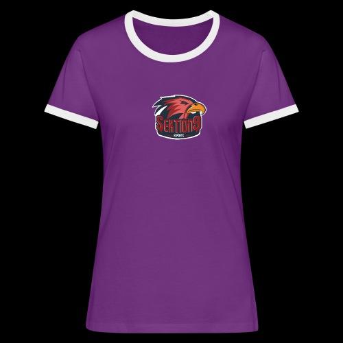 Sektion9 logo Rot - Frauen Kontrast-T-Shirt