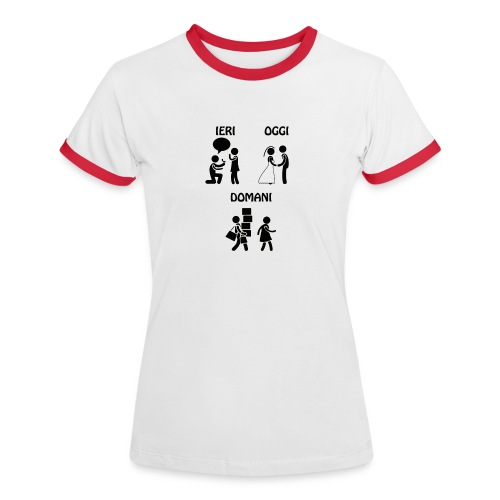 4 - Maglietta Contrast da donna