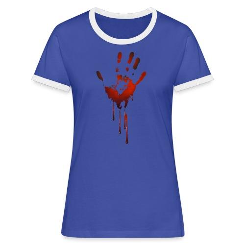 tænk dig om - Dame kontrast-T-shirt