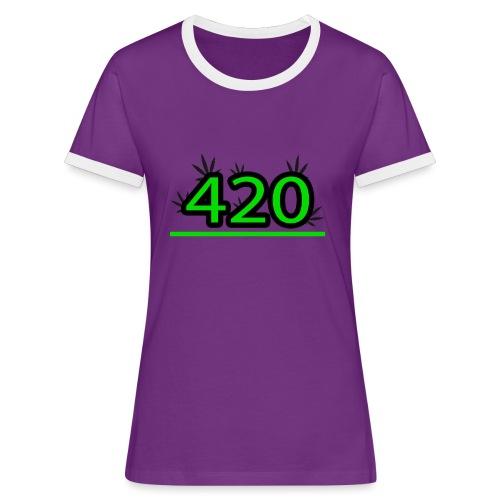420 - T-shirt contrasté Femme