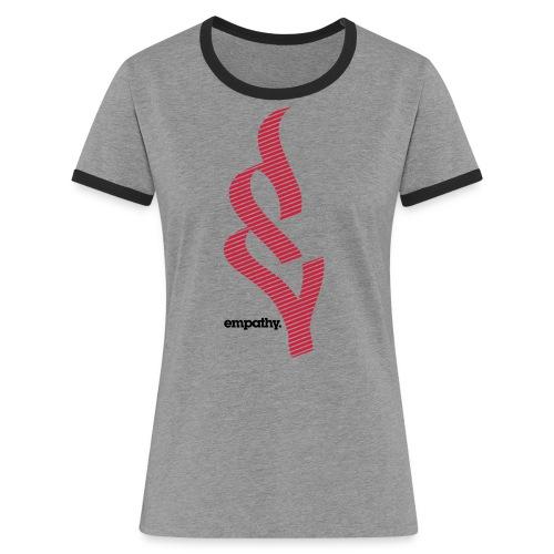 empathy e2 - Koszulka damska z kontrastowymi wstawkami