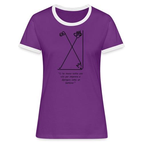 strumenti creativi - Maglietta Contrast da donna